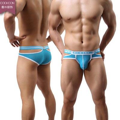 COCKCON Jockstrap Briefs Men Underwear Nylon Mens Briefs Transparent Bulge Pouch Sexy Panties Erotic Lingerie Gay Slips