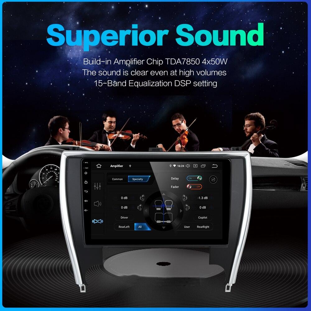 "Perfect Dasaita 10.2"" Car Radio 1 Din Android 9.0 for Toyota Camry US Version 2015 2016 2017 Bluetooth USB 64GB ROM 4"