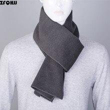 ZFQHJJ 2017 Newest Fashion High Quality Solid Plain Business Casual Scarves Winter Warm Mens Cashmere Scarf Luxury Brand180x30cm