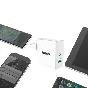 Image 3 - Typu C PD Adapter 60W szybka ładowarka USB ue usa wielka brytania szybkie ładowanie telefonu komórkowego USB dla MacBook iPhone XS Max Samsung Xiaomi Huawei