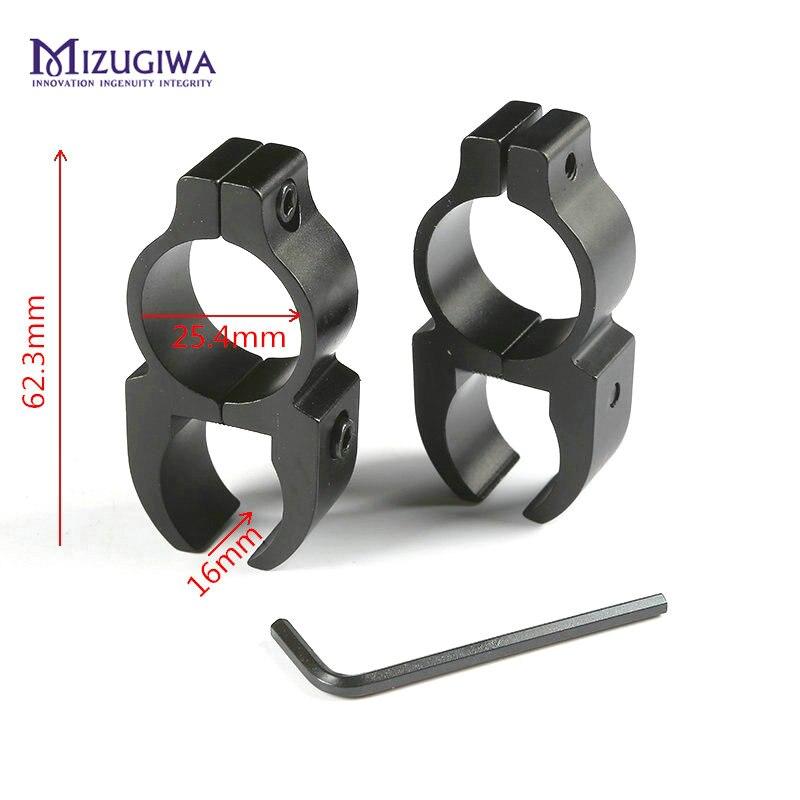 MIZUGIWA Tactical Ring 25.4mm Adapter Picatinny Weaver Rail Rifle Scope Mount Flashlight Torch Flash Light Clamp Profile Riser