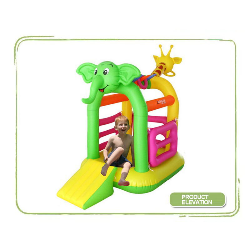 Lounge Chair Trampoline For Children'S Kids Toys Inflatable Jumperoo Toys Giraffe Elephant Child Jumping Mat Jumpers Toy Cartoon super funny elephant shape inflatable games kids slide toy for outdoor