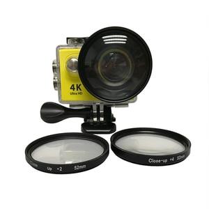 Image 2 - 3 pcs/lot 52mm Macro Filtre Lentille Kit + 2/4/8 pour Eken Accessoires Eken H9 H9R h9pro H9SE H8PRO H8SE H8 H8R H3 H3R V8S