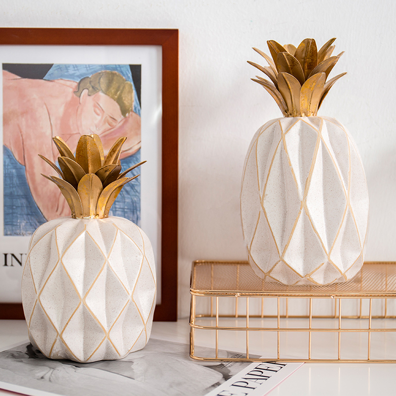 Fshion creative home interior decoration ceramic pineapple ornament living room office desktop simple furnishings