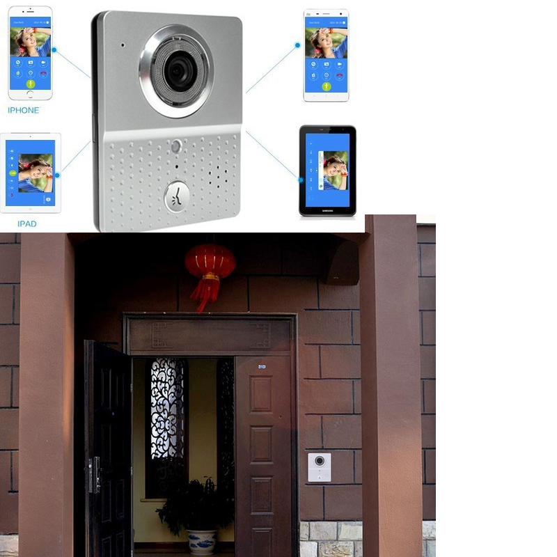 wireless 3G 4G Wifi Doorbell Camera + Indoor Bell Video Door Phone Real Time Talking Photo Video free APP Support IOS android 2016 new wifi doorbell video door phone support 3g 4g ios android for ipad smart phone tablet control wireless door intercom
