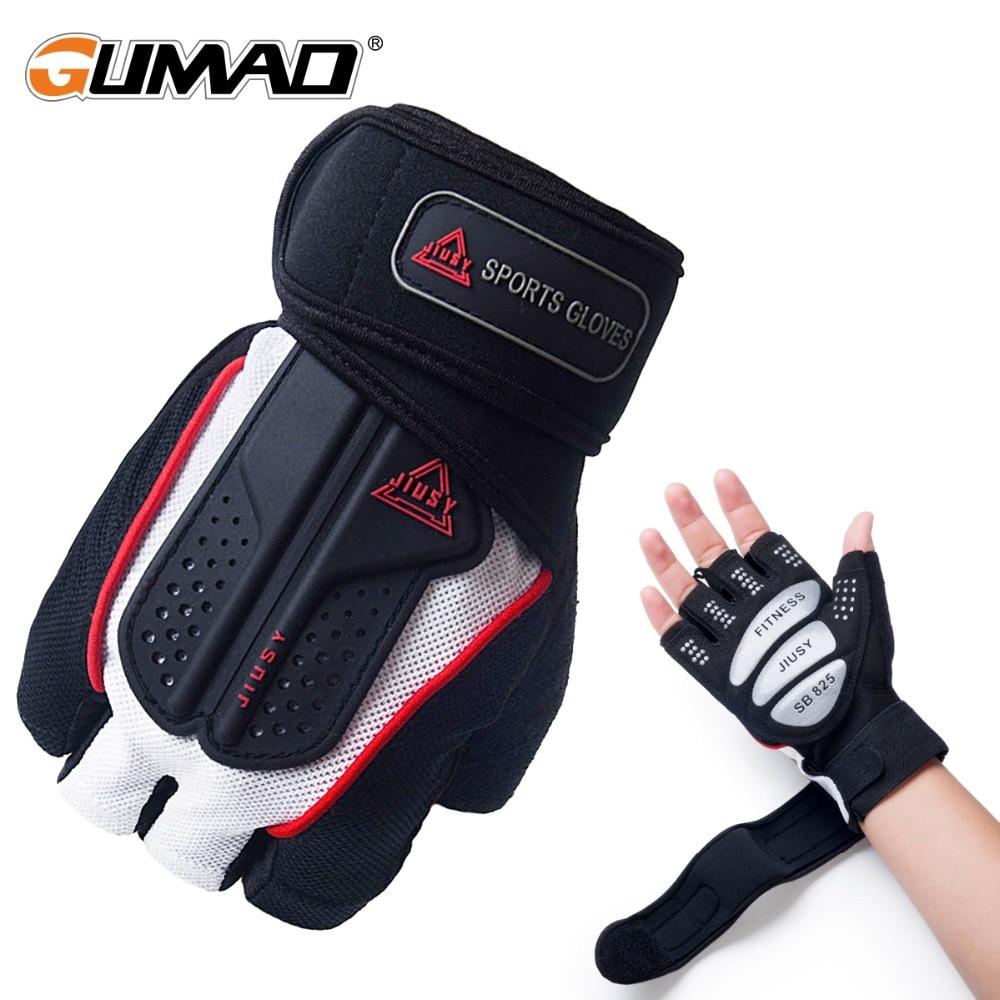1x Half Finger Gloves Summer Fitness Dumbbell Pulley Bike Sports Ice Silk Unisex