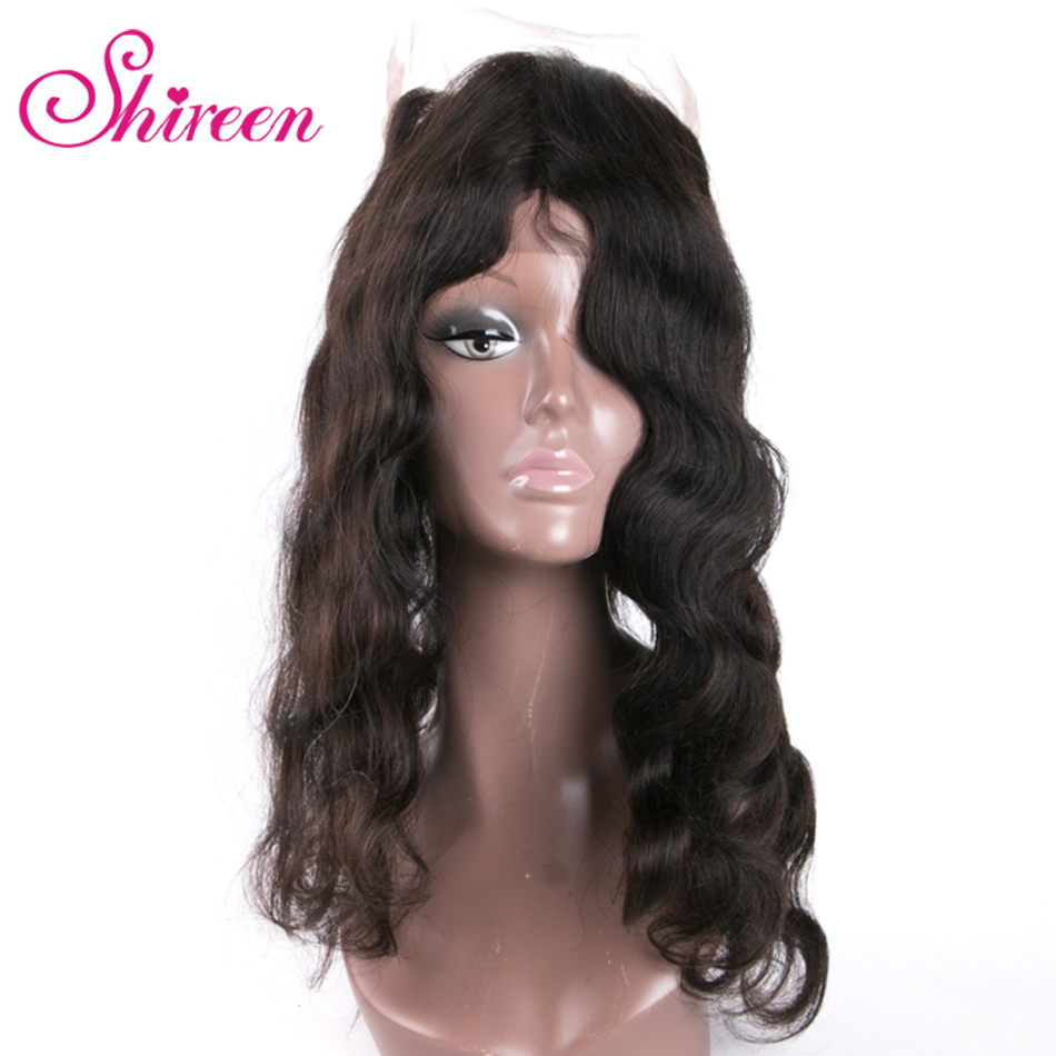 Shireen Hair Brazilian Body Wave 360 Lace Frontal Closure With Baby Hair Remy Human Hair Free Part Natural Color Free Shipping