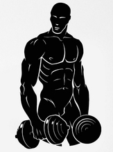Gym Wall Sticker Muscled Man Sports Fitness Bodybuilding Gym Art Wall Sticker Sport Fitness Centre Wall Decal Bedroom Decoration