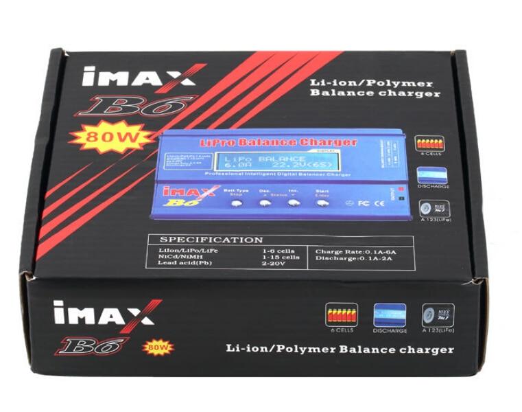 Batería Lipro balanaza cargador iMAX B6 cargador Lipro Digital cargador de equilibrio + 15 v 6A adaptador de Cables de carga