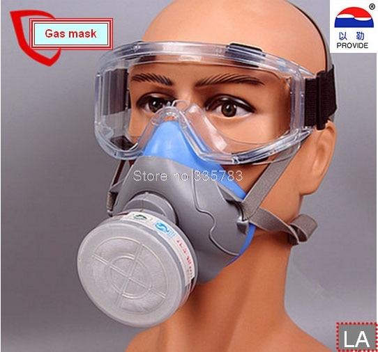 1PCS gas mask + goggles Chemical Gas Respirator Face Masks Filter Chemical Gas Protected Face Mask with Goggles 3m 6300 6003 half facepiece reusable respirator organic mask acid face mask organic vapor acid gas respirator lt091