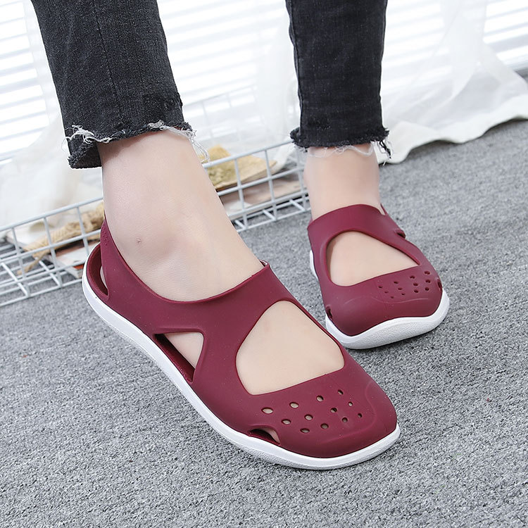 HTB1O2l1bzzuK1Rjy0Fpq6yEpFXar - Women's Sandals Fashion Lady Girl Sandals Summer Women Casual Jelly Shoes Sandals Hollow Out Mesh Flats Beach Sandals