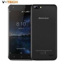 Originele Blackview A7 Smartphone Android 7.0 MT6580A Quad Core mobiele telefoon 1 GB RAM 8 GB ROM Dual back camera Unlocked mobiele telefoon