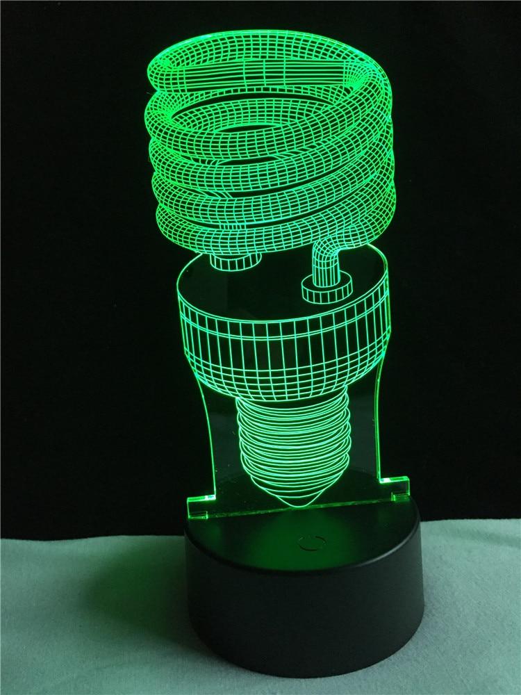 Ny Populær 3D Vision Atmosfære Natlamper Stemningslampe Touch Led-stue / soveværelse bord / skrivebordslampe Børn Nyhed Legetøj gave gave