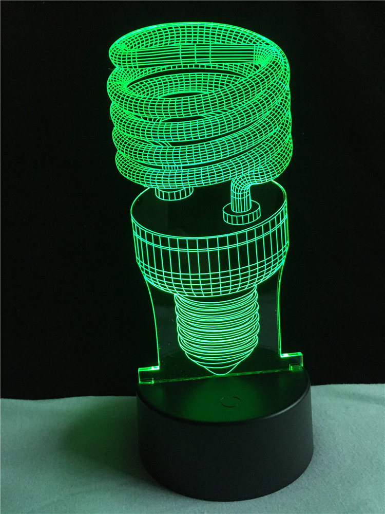 New Popular 3D Vision Atmosphere Night Lights Mood Lamp Touch Led living/bedroom table/desk Lamp Kids Novelty Toy Gift Present