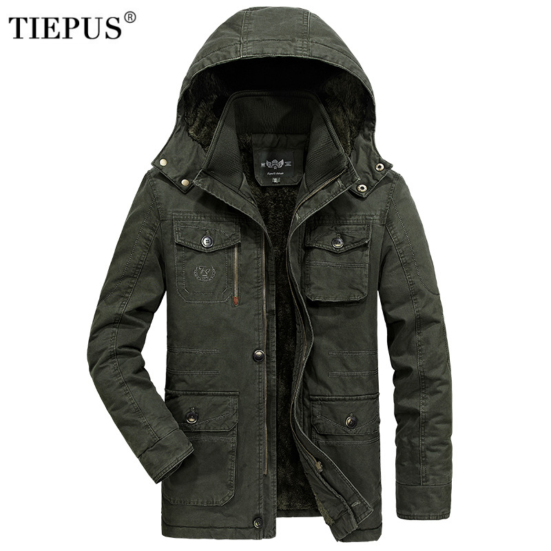 Winter Jacket Men 7XL 8XL Warm Big Size Coat 2018 Thicken Windbreaker High Quality Fleece Cotton-Padded   Parkas   Military Overcoat