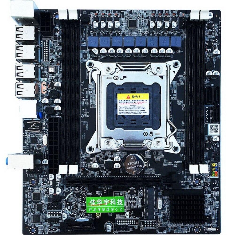 H61 E5 carte mère d'or V2.49 LGA2011 ATX USB3.0 SATA3 PCI-E NVME M.2 SSD soutien REG ECC mémoire et Xeon E5 processeur