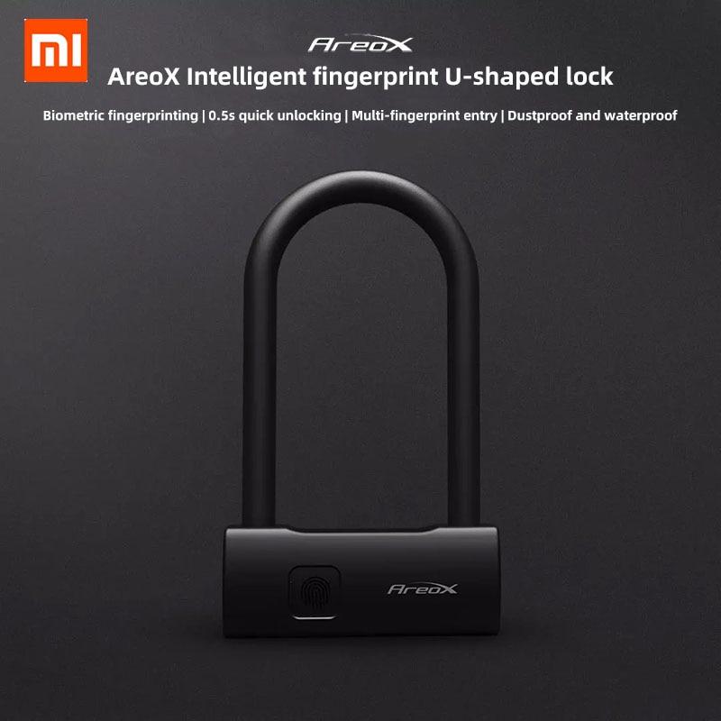 Xiaomi AreoX U8 Smart Fingerprint U lock Anti theft Bicycle Motorcycle Lock Sliding Door Car Window