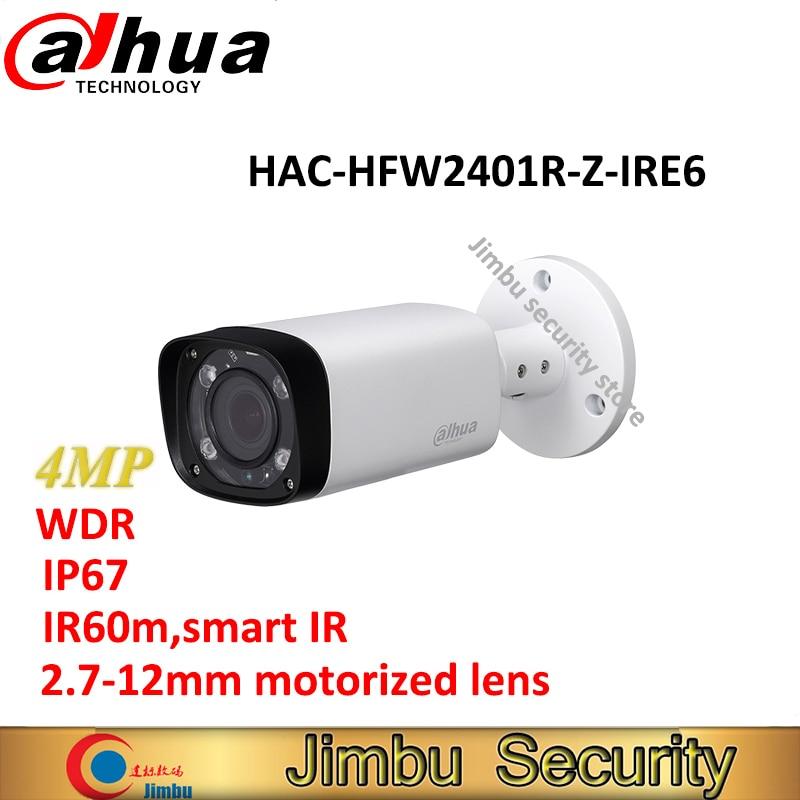 Dahua 4MP WDR HDCVI IR Bullet CCTV Camera HAC-HFW2401R-Z-IRE6 IP67 varifocal lens 2.7-12mm motorized lens IR60m Smart 120dB 3DN dahua 4mp wdr hdcvi ir bullet cctv camera hac hfw2401r z ire6 ip67 varifocal lens 2 7 12mm motorized lens ir60m smart 120db 3dn