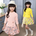Girls Dress Floral Cartoon Autumn Spring Casual Baby Dress Cute Infants Long Sleeve Dresses Fashion Children Lace Princess Dress