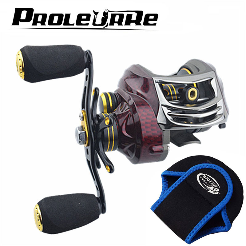 Fishing Reel 18+1BB Ball Bearings Right/Left Baitcasting Reel 6.3:1 Carp Fishing Coils Gear 215g fishing equipment carretilha 3bb ball bearings left right interchangeable collapsible handle fishing spinning reel se200 5 2 1 with high tensile gear red