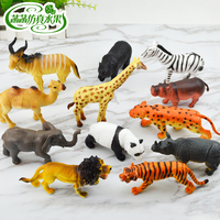 Home Decor Decoration Crafts Miniatures Simulation Wildlife Animal Tiger Panda Elephant Model Children Toy