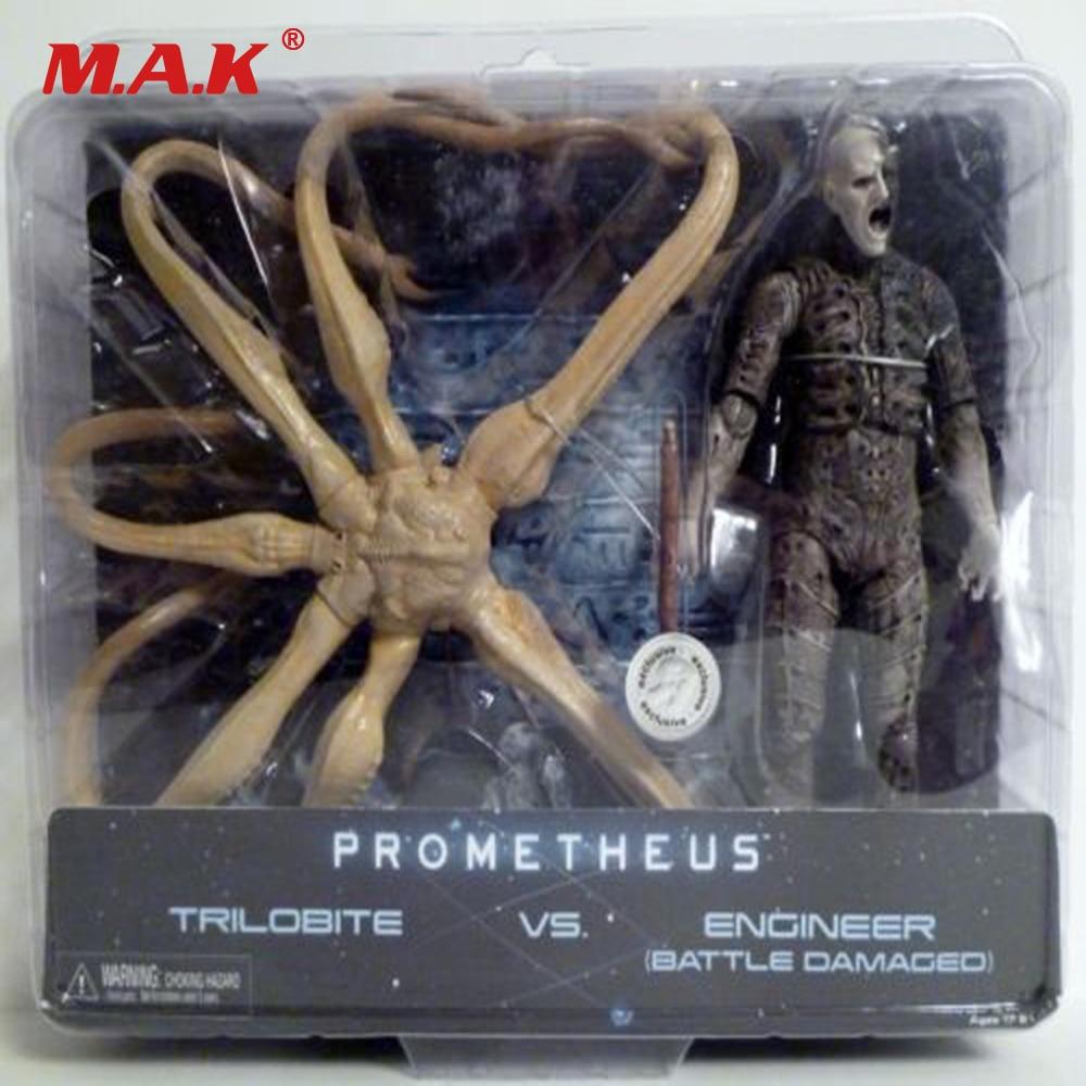 Toys Gift for Children Kids Reel Toys Prometheus Action Figure Trilobite VS Engineer Bnip Model Toys Gift for Collection цена