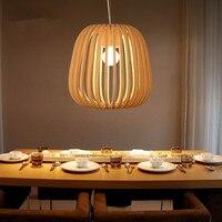 Бамбук плетеная из ротанга тени подвесной светильник загородный Японский современный подвесной светильник дома столовая E27 220 В для декор