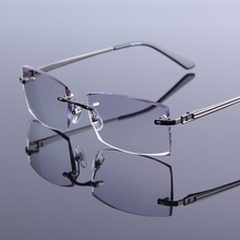 0abec3dc13a DUBERY Ultralight Alloy Rimless Men s Anti Fatigue Reading Glasses High  Grade