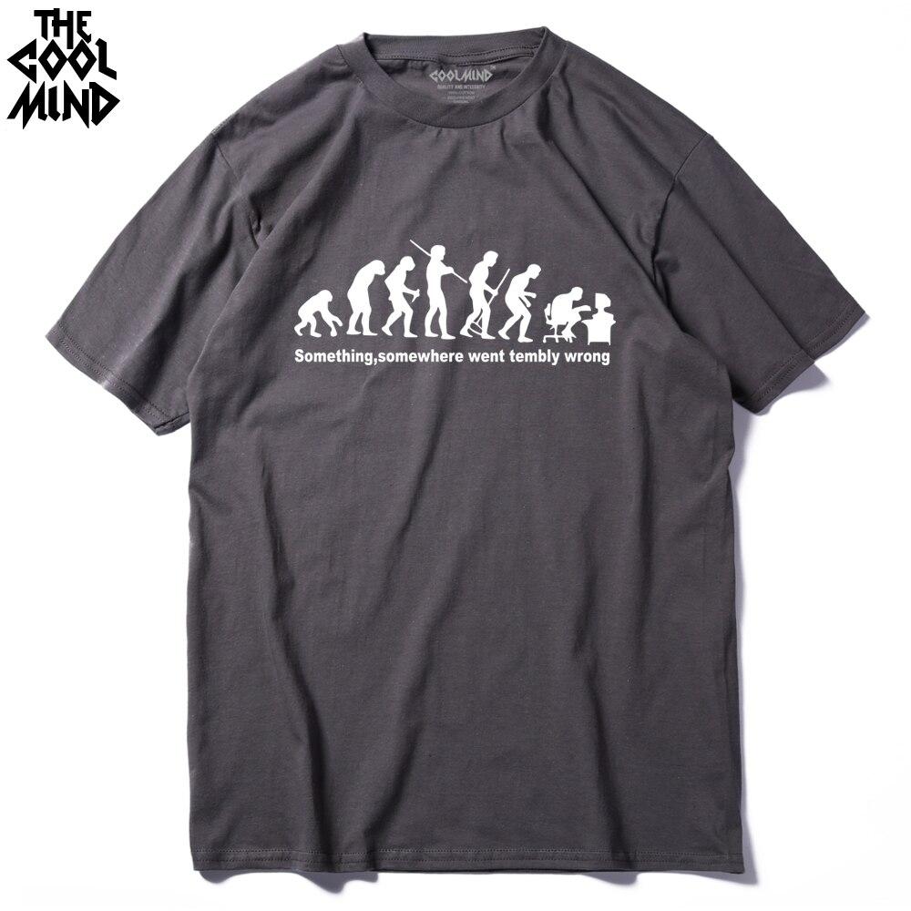 COOLMIND FU0114A 100% Cotton   T  -  shirt   O-Neck Casual Tshirt 2017 Summer Men   T     Shirts   Funny Slogan Top Tees Men's Short Sleeve