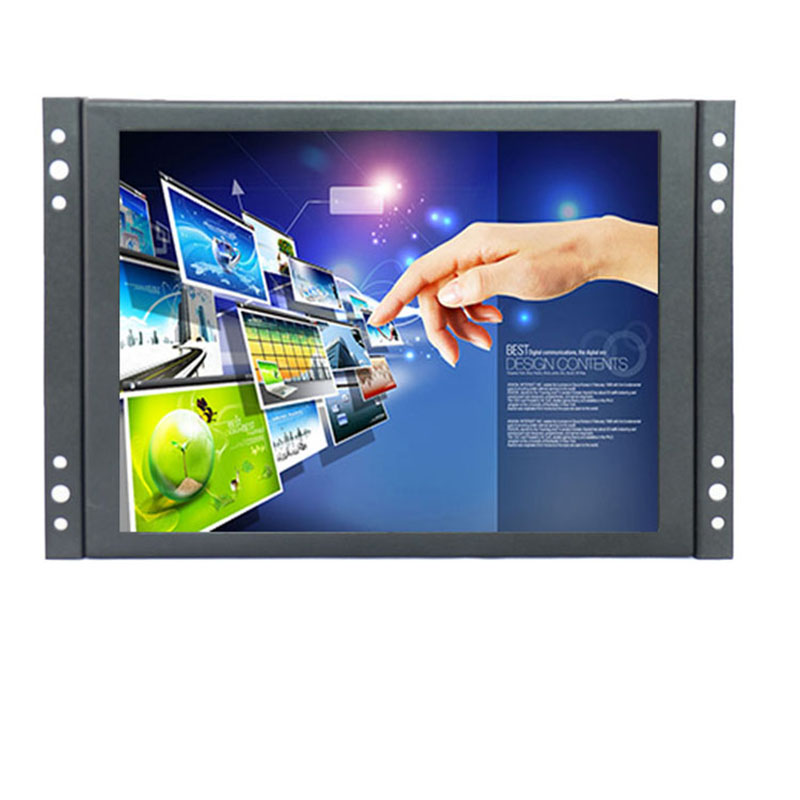 8 Inch 4:3 Small LCD Color Video Monitor Screen 1024x768 VGA BNC AV HDMI Input for PC CCTV Home Security 8 inch tft lcd color video monitor screen vga bnc av input with remote controller for pc cctv home security stand