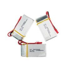 2 or 3 pcs/lot 7.4V 1500Mah 25C Lipo Battery For WLtoys V913 Q212G V912 V262 L959 L979 JST plug For RC Helicopter Drone Bateria