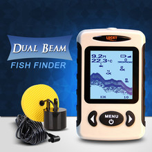 LUCKY FF718D  2.2″  LCD Portable Fish Finder 200KHz/83KHz Dual Sonar Frequency 100M Detection Fish Detector Depth Locator