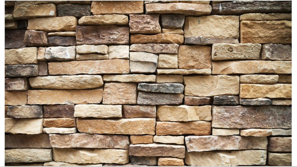 Free shipping 2015custom non woven wallpaper Stone brick ...