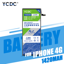 YCDC Lithium Battery For Apple iPhone 4 4S 5  5S 6 Plus Replacement Batteries Internal Phone batteries