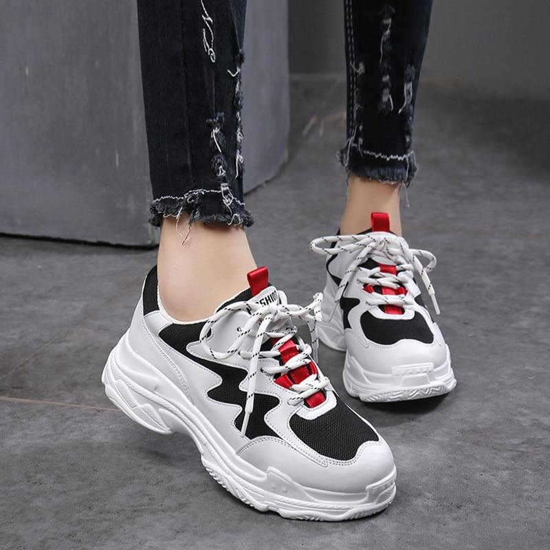 jaune Coréenne Style Printemps Nouvelle Harajuku Femme 2019 Mode Chaussures  Rouge Sauvages Version Sport De HOASxqYR
