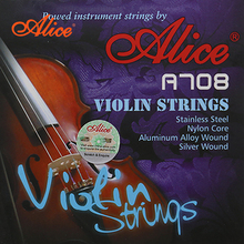 Alice A709 High Quality Violin Strings Nylon Core Aluminum Alloy Wound Silver Wound