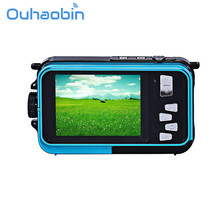 Ouhaobin  Double Screen Waterproof Camera 24MP 16x Digital Zoom Dive Camera Oct 16 Dropship(China)