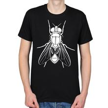 HOUSE FLY INSECT VECTOR DRAWING CREEPY SCIENCE NATURE HIPSTER MENS T-SHIRT TEE 2017 Fashion Short Sleeve Black T Shirt