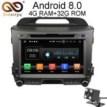 Sinairyu Android 8.0 8 Core 4G RAM Car DVD GPS For Kia Sportage 2010 2011 2012 WIFI Autoradio Multimedia Stereo