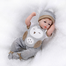 2017 Newest Style 20 Inch Reborn Baby Doll Lifelike Newborn Silicone Babies Handmade Baby Play Toy For Kids Birthday Xmas Gift