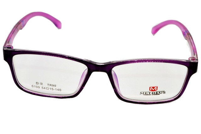 2016NEW FULL-RIM FASHION PURPLE GLASSES FRAME CUSTOM MADE OPTICAL MYOPIA  AND READING GLASSES LENS a176a9bccd