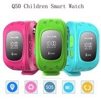 Inteligentny Zegarek Zegarek Dla Dzieci Kid Q50 Q50 GSM GPS GPRS lokalizator Tracker Anti-utraconych Smartwatch dla iOS Android pk Q100 Jak prezent