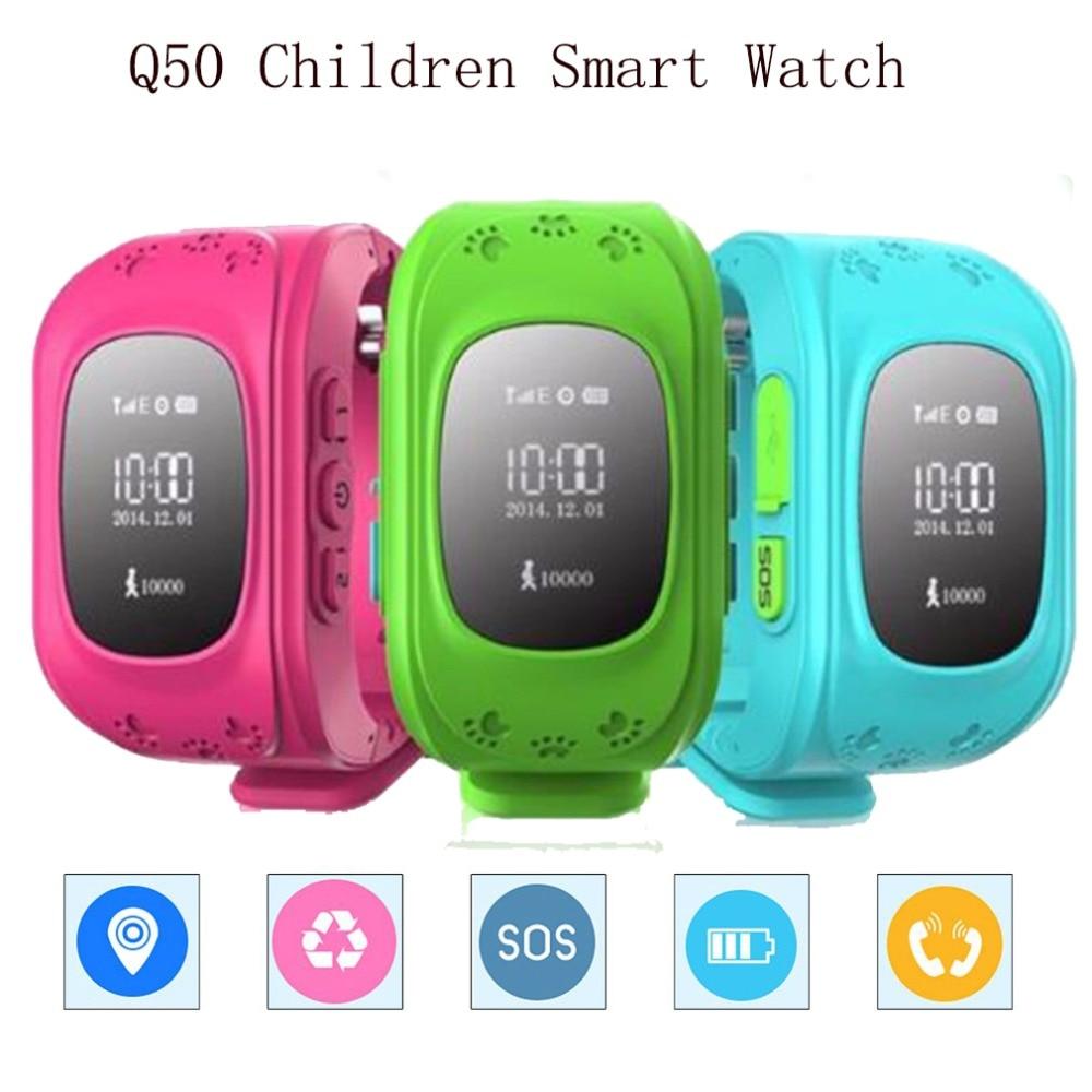 Q50 Montre Smart Watch Enfants Enfant Montre-Bracelet Q50 GSM GPS GPRS Localisateur Tracker Anti-Perte Smartwatch pour iOS Android pk q100 Comme Cadeau
