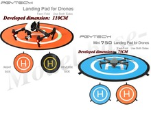 2 unids APG Rápida doble pista de aterrizaje (1X110 cm + 1X75 cm) para Mavic pro DJI phantom 2 3 4 inspire1 Drone RC Quadcopter piezas Accesorios