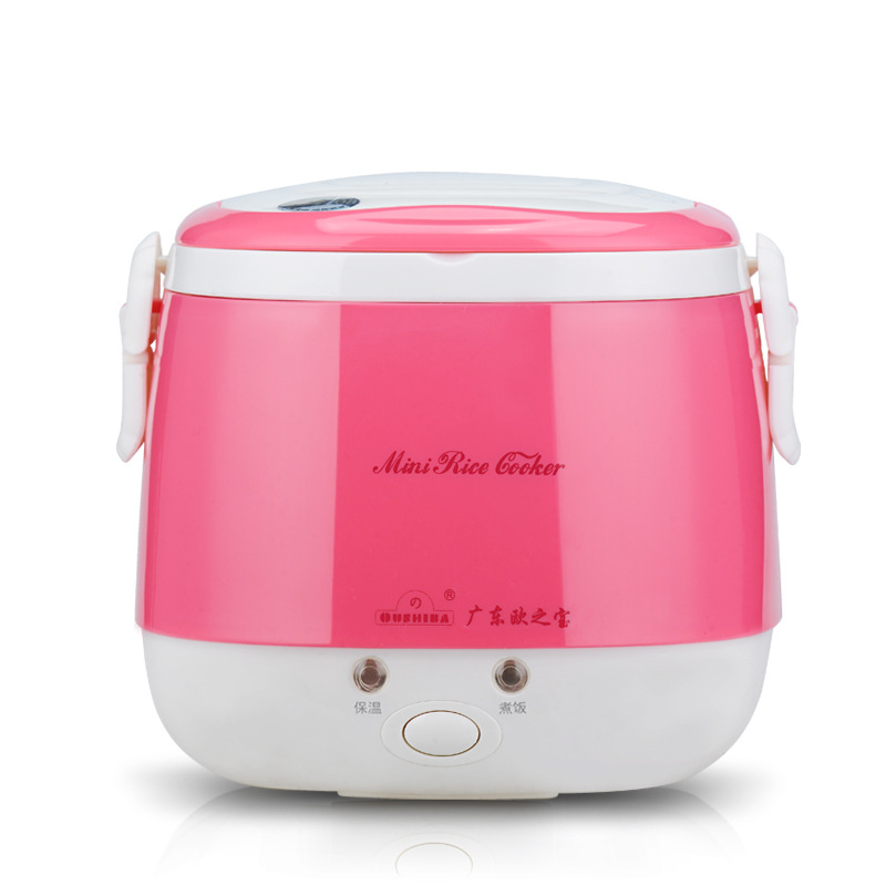 220V Electric Mini Rice Cooker Food Steamer 3 Cups Portable Rice Cooker Steamer Small Heating Lunch Box