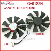 Free Shipping 2pcs Lot GA91S2H 12V 0 35A 40 40 40mm 4Pin 85mm VGA Fan For