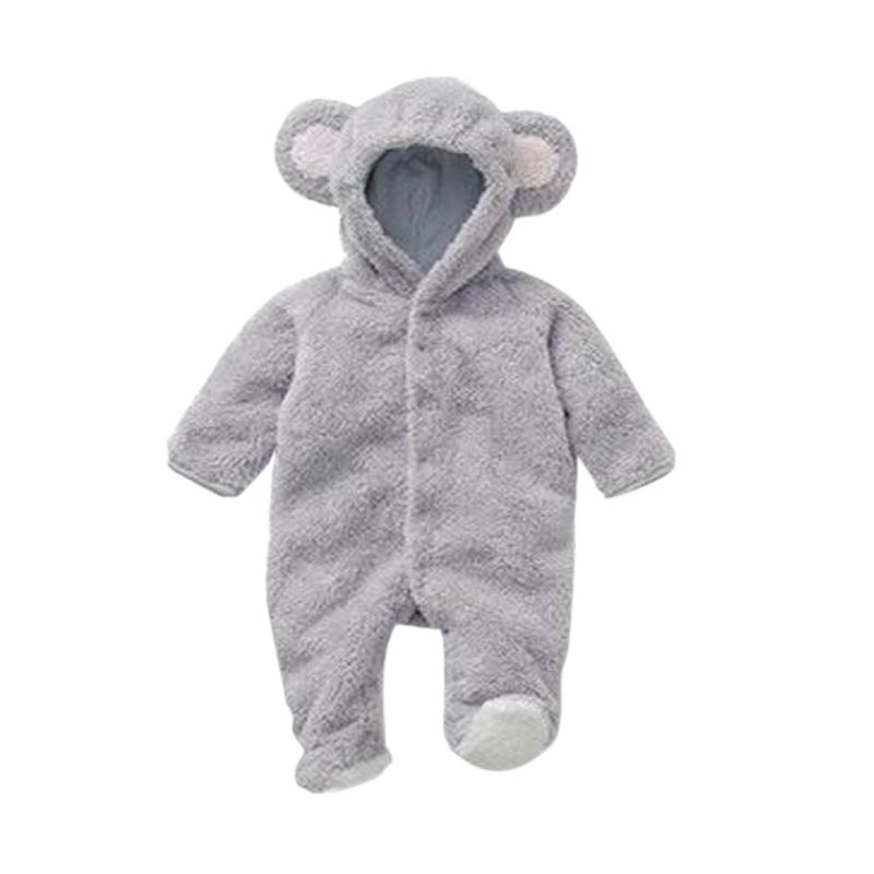 цена Autumn Winter Newborn Rompers baby coral fleece Hoodies Jumpsuit baby girls boys romper newborn toddle baby clothing