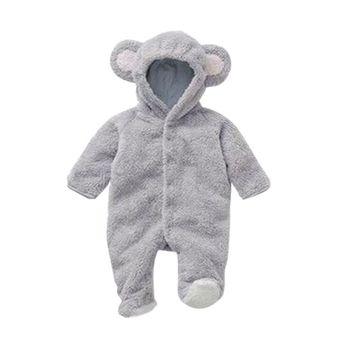 30f5fc554 Otoño Invierno recién nacido mamelucos bebé coral polar sudaderas con  capucha mono bebés niñas niños mameluco ropa de bebé recién nacido