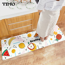 TIMO PU Floor Mats Cartoon Lovely Printed Bathroom Kitchen Carpet Kids Room Doormats Area Rug for Living Room Anti-Slip Tapete(China)
