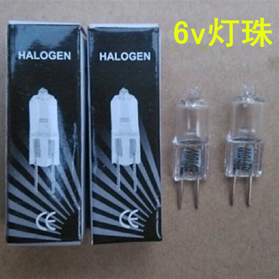 6v 10w 6v 20w g4 light beads microscope bulb optical instrument halogen bulb jc 6v10w 6v20w